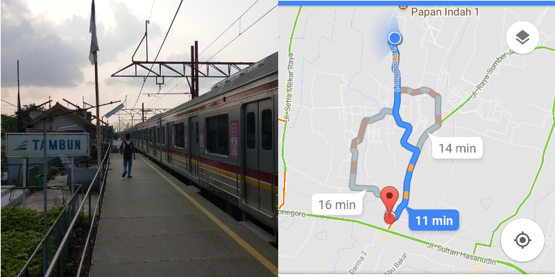 a_Stasiun Tambun dan menit